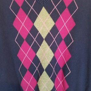 Izod Sweaters - Izod Argyle v-neck long sleeve sweater. Sz L.